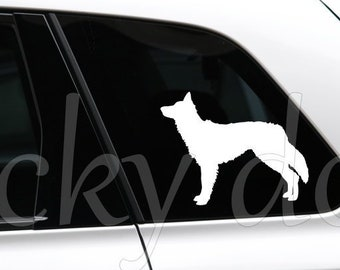 Border Collie silhouette dog sticker