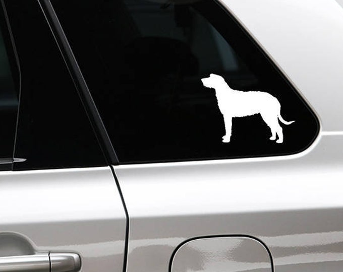 Irish Wolfhound silhouette dog sticker