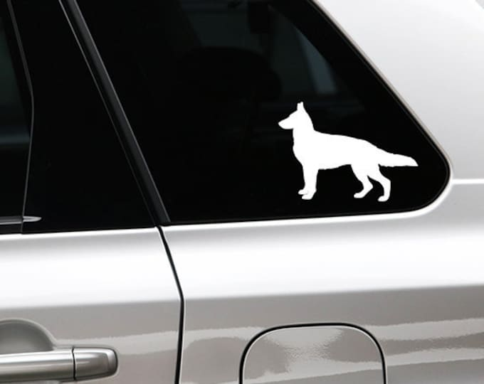 German Shepherd silhouette dog sticker