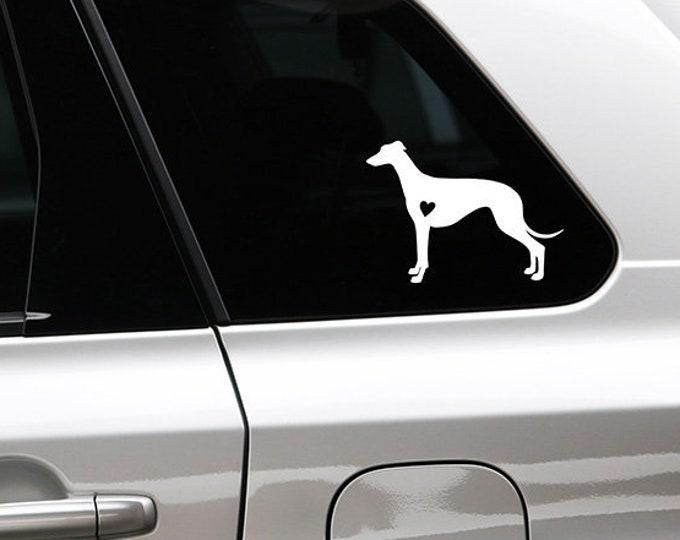 Greyhound silhouette dog sticker