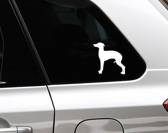 Italian greyhound/ sighthound sticker dog silhouette