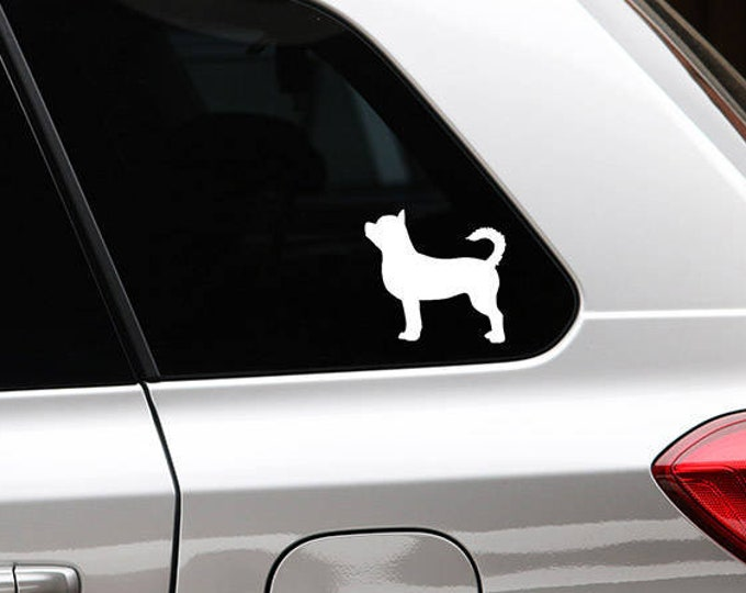 shorthaired Chihuahua silhouette dog sticker