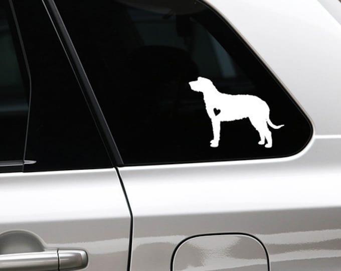 Irish Wolfhound silhouette sticker