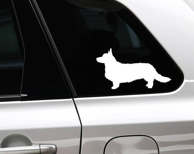 Cardigan Welsh Corgi silhouette sticker