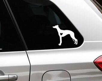 Whippet silhouette dog sticker