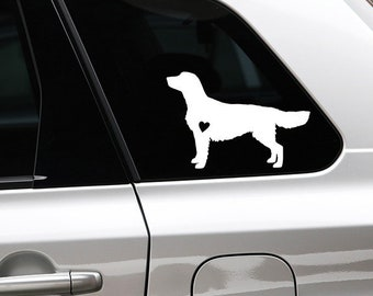 Golden retriever silhouette dog sticker