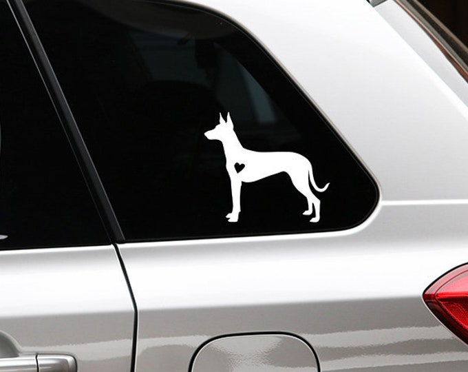 Pharaoh hound silhouette dog sticker