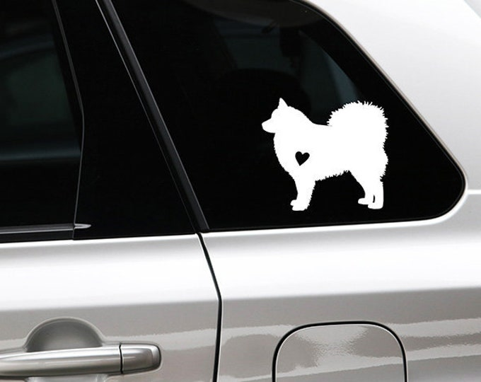 Finnish Lapphund silhouette sticker