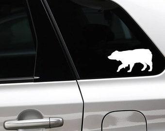 Australian Shepherd silhouette sticker