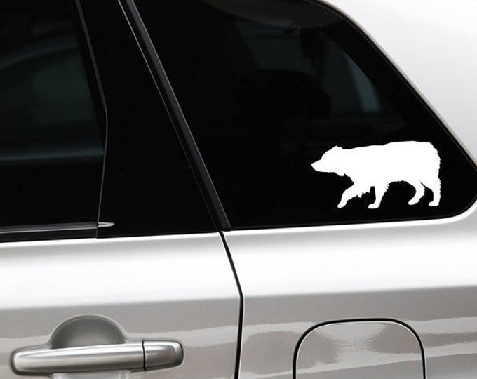 Australian Shepherd silhouette dog sticker