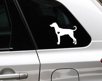 German Pinscher silhouette sticker