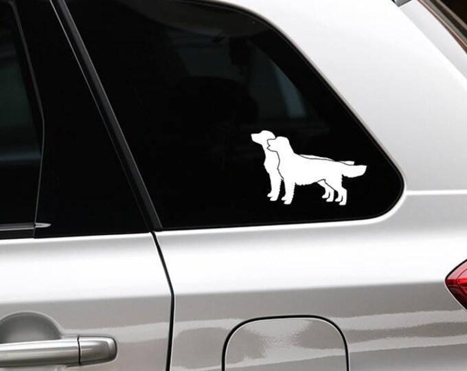 Golden retriever silhouette dog sticker