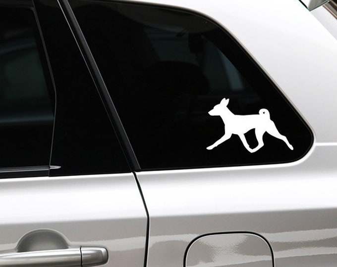 Basenji silhouette dog sticker