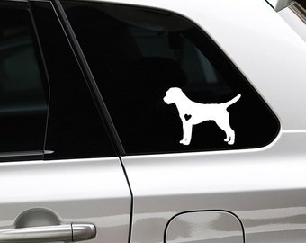 Border Terrier silhouette dog sticker