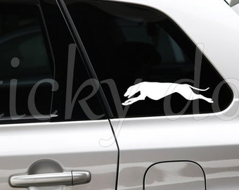 Whippet silhouette dog sticker