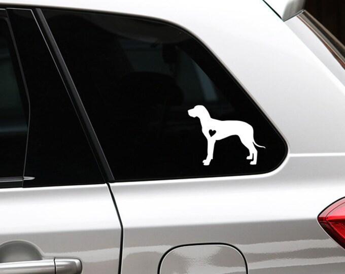 Great Dane dog silhouette sticker