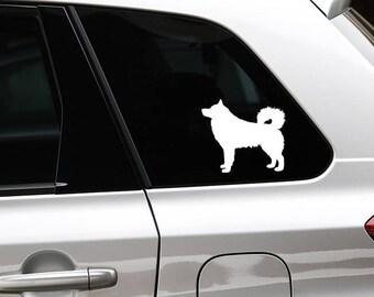 Alaskan Malamute silhouette dog sticker