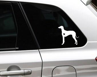 Azawakh silhouette dog sticker