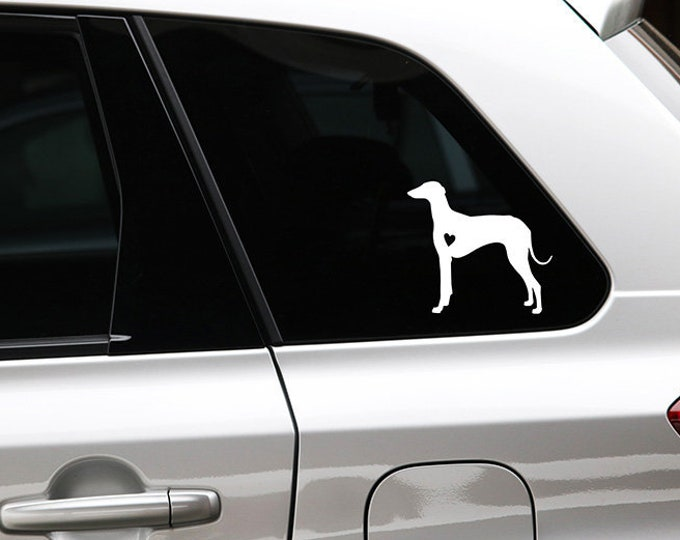 Azawakh silhouette dog sticker