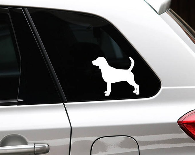 Beagle silhouette dog sticker