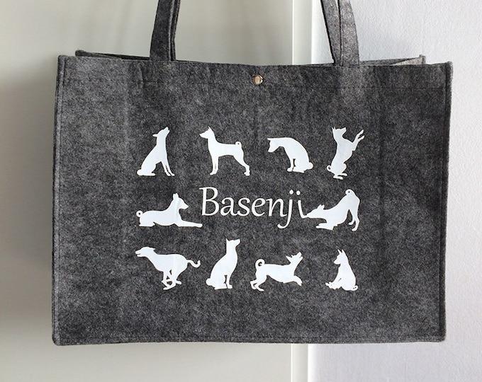 Felt bag Basenji