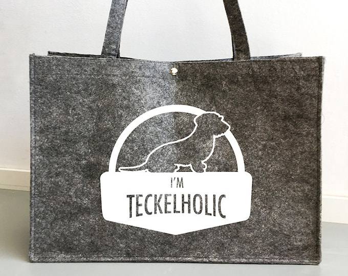 Felt bag Wire-haired Dachshund - Teckel dog silhouette