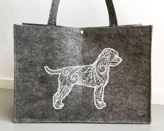 Felt dog bag Lagotto Romagnolo silhouette