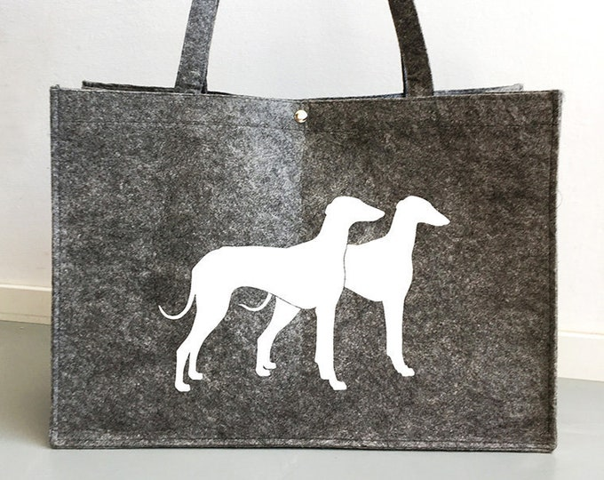 Felt bag Azawakh dog silhouette