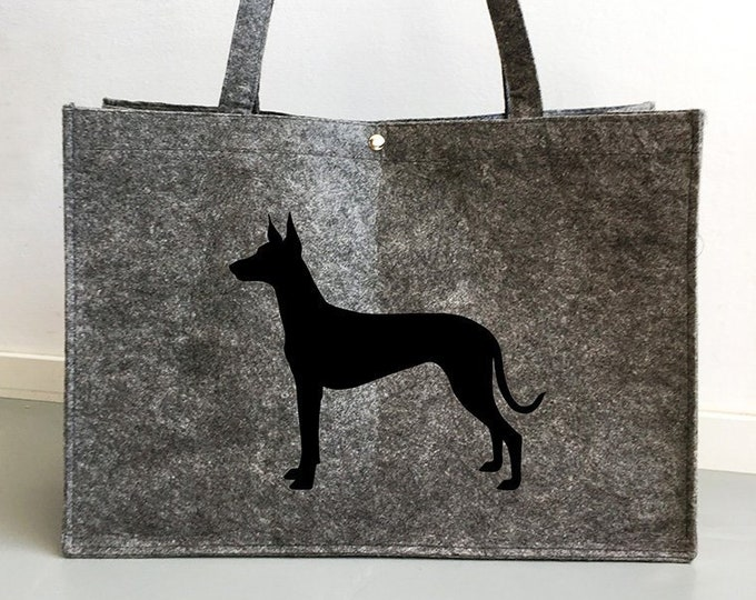 Felt bag Pharaoh hound silhouette dog sticker