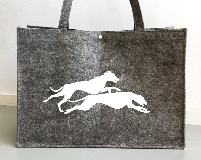 Felt bag Whippet double running silhouette