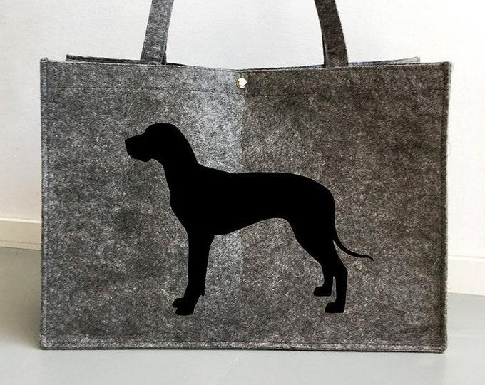 Felt bag Great Dane dog silhouette