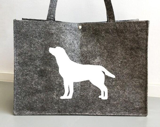 Felt bag Labrador retriever dog silhouette