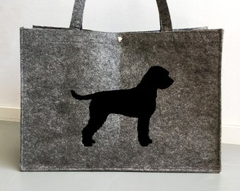 Felt bag Lagotto Romagnolo silhouette dog sticker