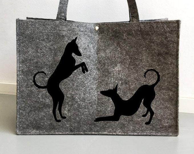 Felt bag Pocenco Ibicenco playing silhouette