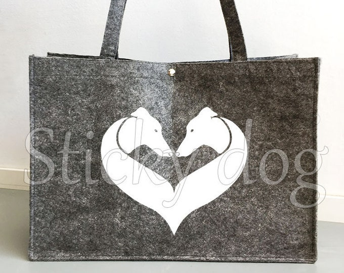 Felt bag Greyhound dog silhouette