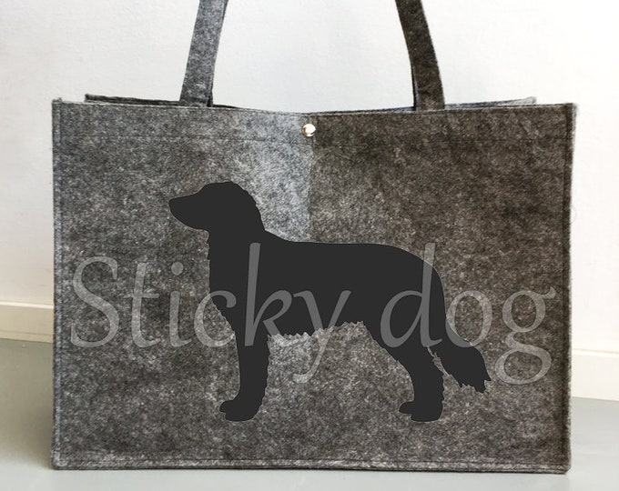 Felt bag Stabyhoun dog silhouette