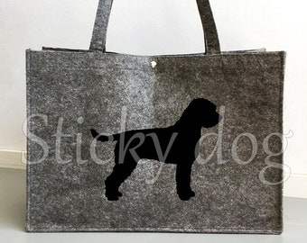 Felt bag Lagotto Romagnolo silhouette dog sticker