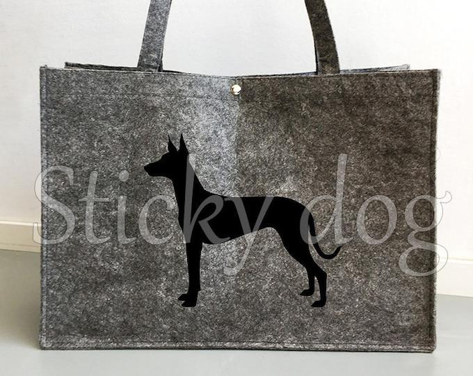 Felt bag Pharaoh hound silhouette dog sticker