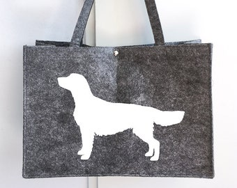 Felt bag Golden retriever dog silhouette