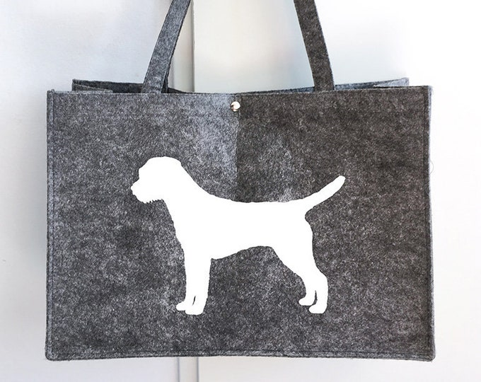 Felt bag Border Terrier dog silhouette