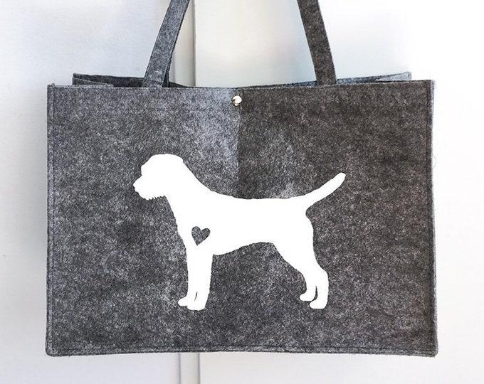 Felt bag Border Terrier dog silhouette