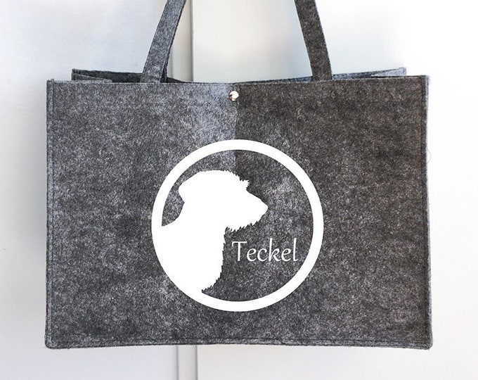 Felt bag Wire-haired Dachshund - Teckel