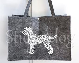 Felt dog bag Lagotto Romagnolo silhouette