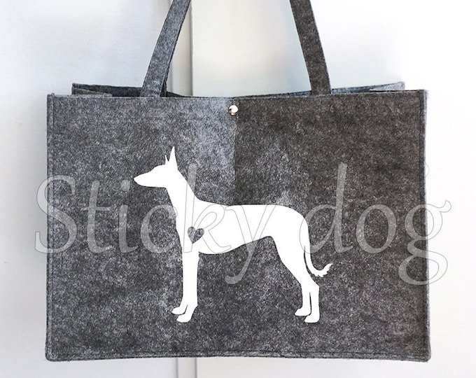 Felt bag Pocenco Ibicenco dog silhouette