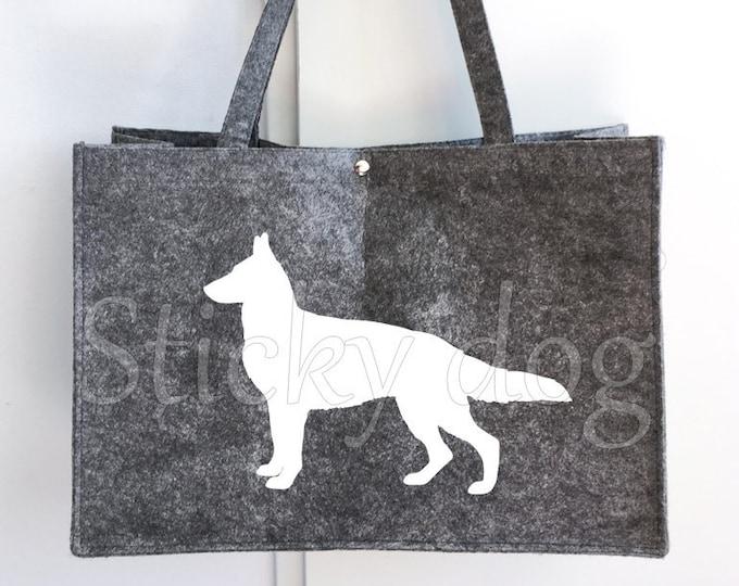 Felt bag German Shepherd dog silhouette