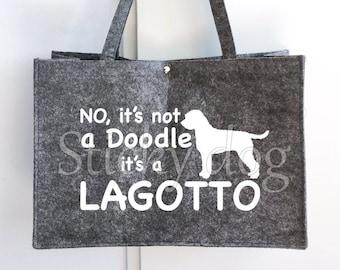 Felt bag Lagotto Romagnolo dog silhouette