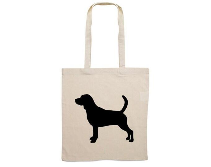 Canvas bag Beagle dog silhouette