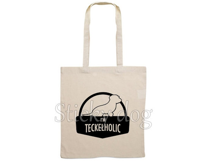 Canvas bag Wire-haired Dachshund - Teckel dog silhouette
