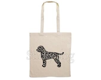 Canvas dog bag Lagotto Romagnolo silhouette