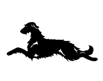 Irish Wolfhound silhouette sticker, LeChienArtistiQ